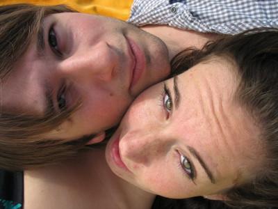 2007. Op deze foto waren we even uit elkaar. Maar zoals je ziet niet voor lang :-)
