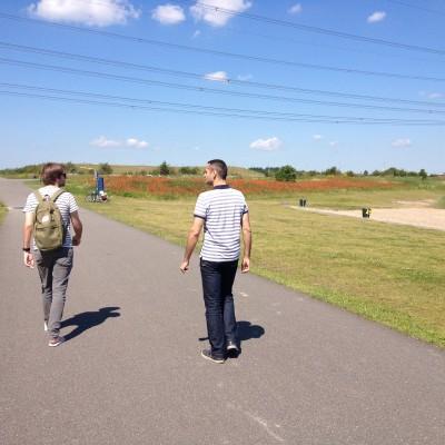 We gingen even een stukje wandelen in de buurt. Het was zo'n heerlijk weer!