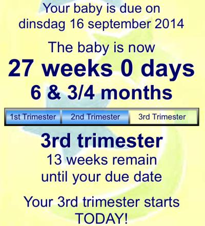 Doei tweede trimester!