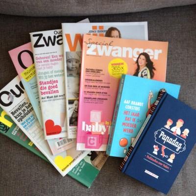 En ik dook lekker de bank op met deze tijdschriften en boeken die ik van een zwangere vriendin heb gekregen!