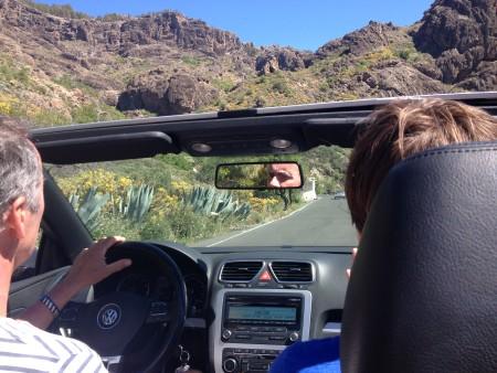 Met de auto op pad op Gran Canaria.
