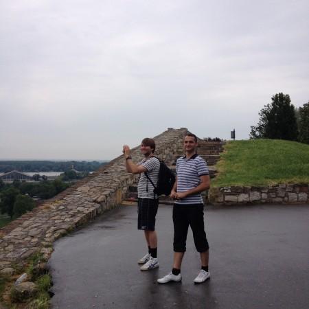 En hier zijn we bij het fort van Belgrado.