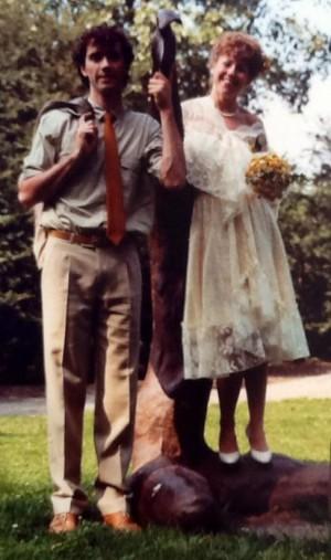 Aaw! Mijn paps en mams op hun trouwdag, 30 jaar geleden.