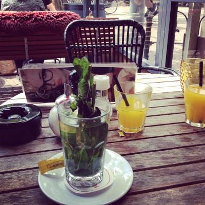 Maandag had ik afgesproken met mijn vriendinnetje Melissa. We gingen lekker lunchen op het terras in Zaandam. Het zou de hele dag regenachtig en koud zijn, maar het was heerlijk weer en we zijn zelfs bewust in de schaduw gaan zitten.