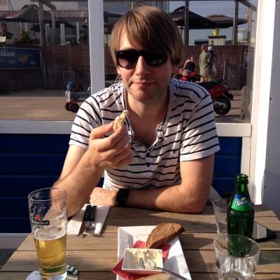 We hadden dus nog tijd zat om lekker aan het strand te eten <3