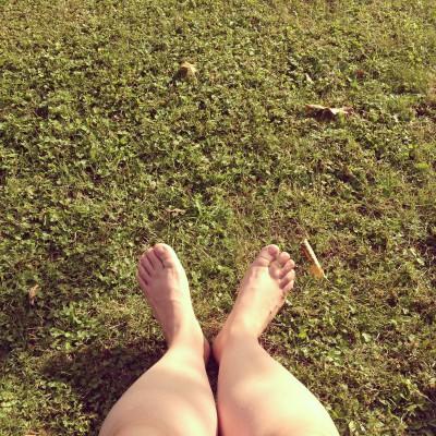 Gelukkig was er ook genoeg tijd om lekker te niksen in het gras! <3