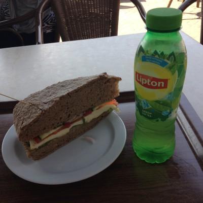 Dit enorme broodje was ook nog eens heerlijk!