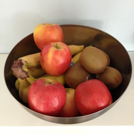 Maandag kochten we weer lekker veel vers fruit. Kom maar door met die vitamientjes!
