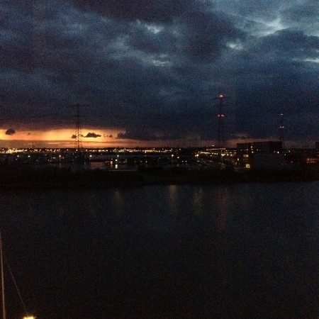 Deze zonsondergang was wel heel bijzonder.