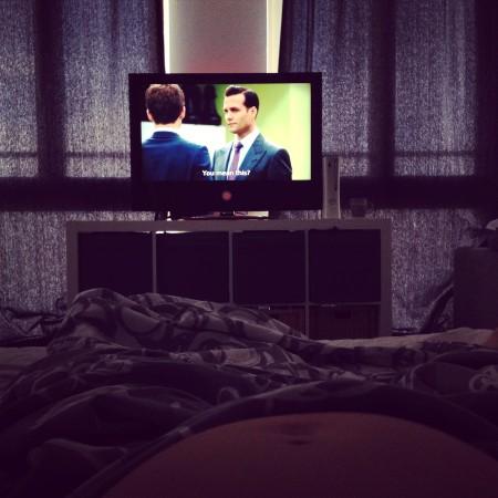 Dus ik ging lekker even Suits kijken in bed.