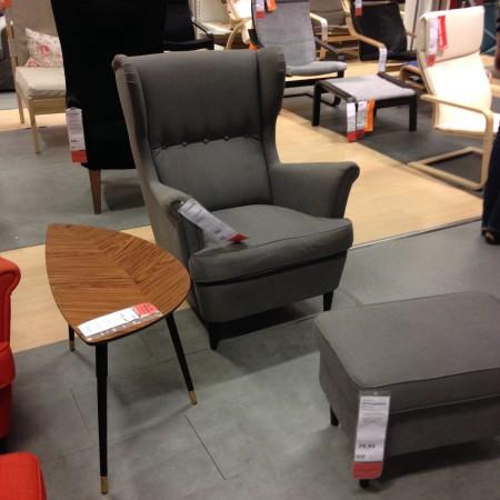 Daarna naar Ikea om onder andere deze stoel voor in de babykamer op te pikken.