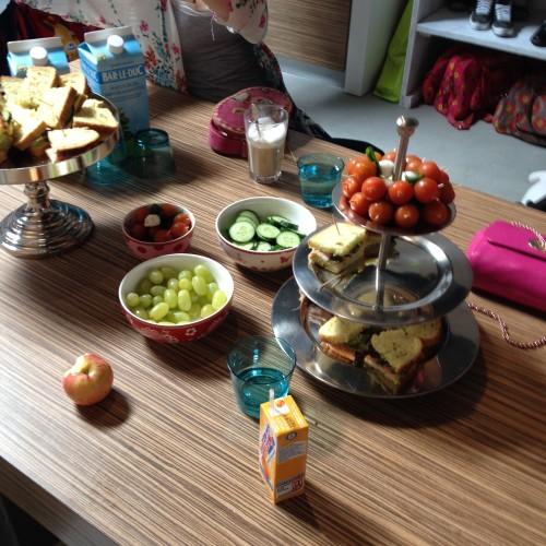 We werden goed verzorgd: er was ook een hele lekkere lunch! <3 Daar wist deze zwangere wel raad mee!