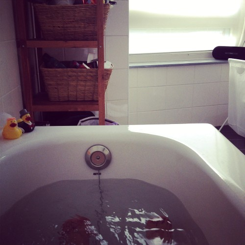 Ik zat afgelopen week ook veel in bad. Tja, wat moet ik anders?