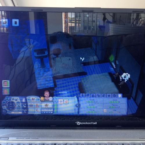 Zondagochtend kwamen Maran zijn ouders gezellig op bezoek. Ook weer hele fijne afleiding van de verder stille week. Oja, en ik speelde The Sims!