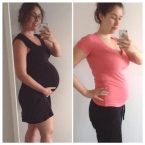 zwanger afvallen eerste weken