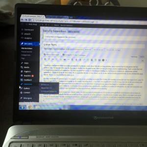 Ik schrijf even een blogje, maar ik weet niet of ik die online zet...
